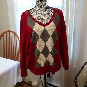 St. John's Bay Argyle sweater